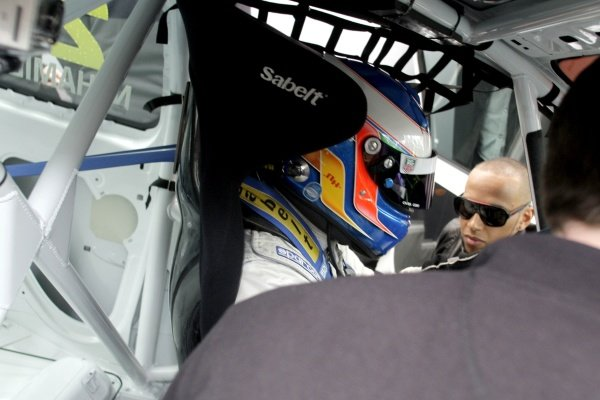 R-L: Lewis Hamilton (GBR), McLaren, with his brother Nicolas Hamilton (GBR), Total Control Racing, who is making his Renault Clio Cup racing debut this weekend. Renault Clio Cup, Rd1, Brands Hatch, England, 2 April 2011.