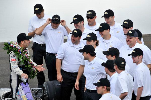 27 May, 2013, Indianapolis, Indiana, USA Winner Tony Kanaan and Team Chevy  ©2013, Scott R LePage LAT Photo USA