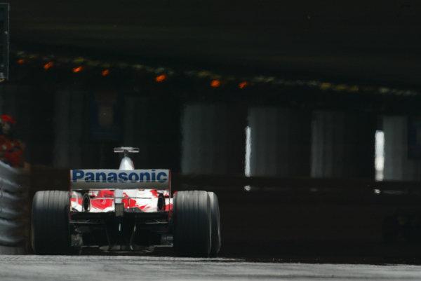2003 Monaco Grand Prix, Sunday Race,Monte Carlo, Monaco.1st June 2003.Olivier Panis, Toyota TF103, action.World Copyright LAt Photographic.Digital Image Only.
