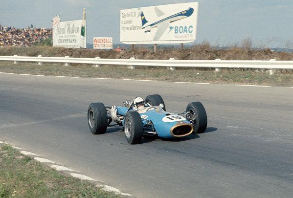 1967 United States Grand Prix.Watkins Glen, New York, USA.30/9-1/10 1967.Guy Ligier (Brabham BT20 Repco).Ref-67 USA 21.World Copyright - LAT Photographic