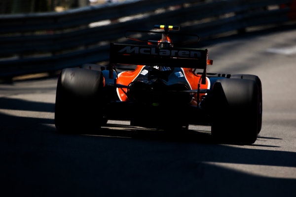 Monte Carlo, Monaco. Saturday 27 May 2017. Stoffel Vandoorne, McLaren MCL32 Honda. World Copyright: Charles Coates/LAT Images ref: Digital Image AN7T7364
