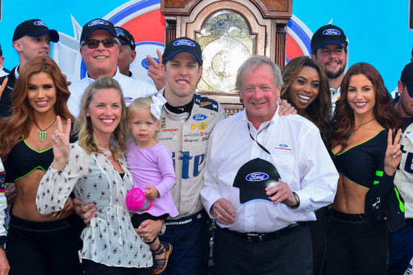 2017 Monster Energy NASCAR Cup Series STP 500 Martinsville Speedway, Martinsville, VA USA Sunday 2 April 2017 Brad Keselowski and Edsel Ford in victory lane  World Copyright: Logan Whitton/LAT Images ref: Digital Image 17MART1LW2761