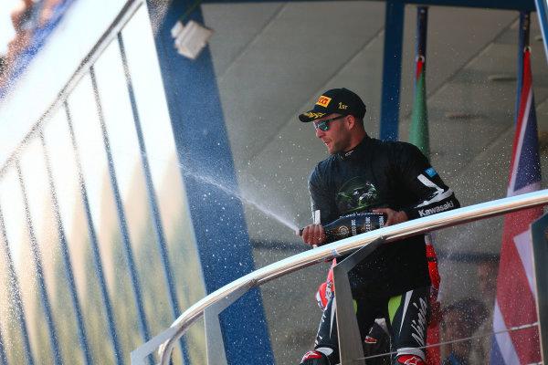 2017 Superbike World Championship - Round 12  Jerez, Spain. Sunday 22 October 2017 Podium: Jonathan Rea, Kawasaki Racing World Copyright: Gold and Goose Photography/LAT Images ref: Digital Image 701218