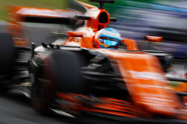 Autodromo Nazionale di Monza, Italy. Friday 01 September 2017. Fernando Alonso, McLaren MCL32 Honda. World Copyright: Steven Tee/LAT Images  ref: Digital Image _O3I4755