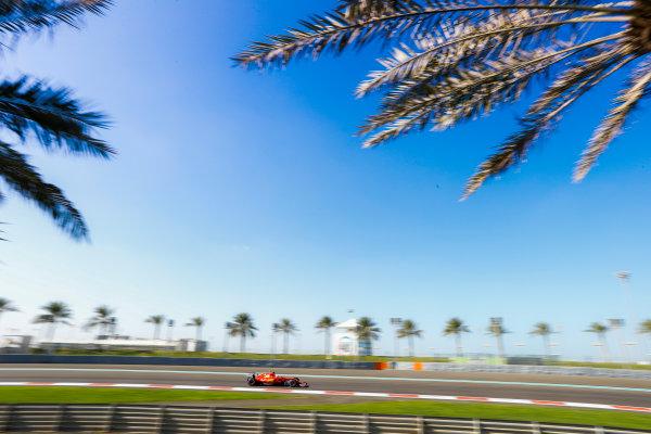 Yas Marina Circuit, Abu Dhabi, United Arab Emirates. Wednesday 29 November 2017. Sebastian Vettel, Ferrari SF70H. World Copyright: Joe Portlock/LAT Images  ref: Digital Image _R3I4014