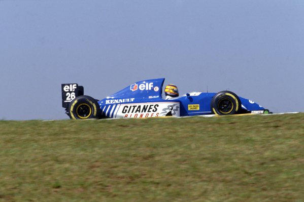 1993 South African Grand Prix.Kyalami, South Africa. 12th - 14th  March 1993.Mark Blundell (Ligier JS39 Renault) 3rd position, action.World Copyright: LAT Photographic.ref: 35mm Colour Transparency.