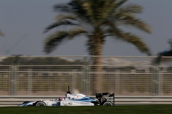Yas Marina Circuit, Abu Dhabi, United Arab Emirates. Wednesday 26 November 2014. Felipe Nasr, Williams FW36 Mercedes. World Copyright: Glenn Dunbar/LAT Photographic. ref: Digital Image _89P8657