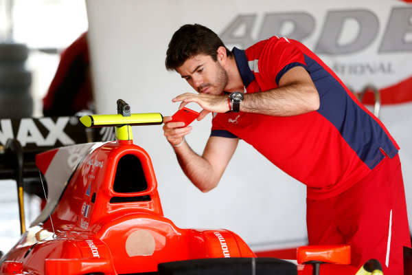 2015 GP2 Test 1 Yas Marina Circuit, Abu Dhabi, United Arab Emirates Wednesday 10 March 2015 Norman Nato (FRA, Arden Int)takes a picture of his car Photo: Jed Leicester/GP2 Series Media Service ref: Digital Image _JL14709