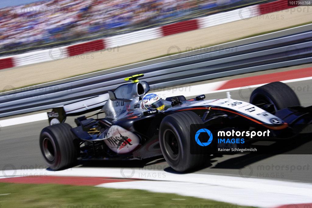 Alexander Wurz, McLaren MP4-20 Mercedes.