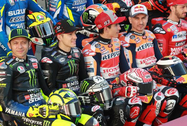 Roosi, Maverick Vinales, Yamaha Factory Racing, Marc Marquez, Repsol Honda Team, Jorge Lorenzo, Repsol Honda Team.