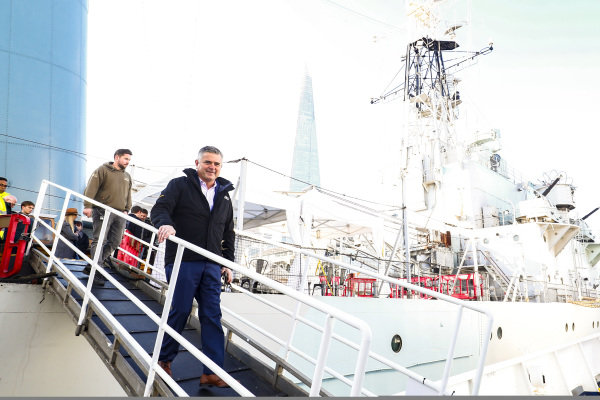 Gil de Ferran arrives to the Extreme E Global Launch