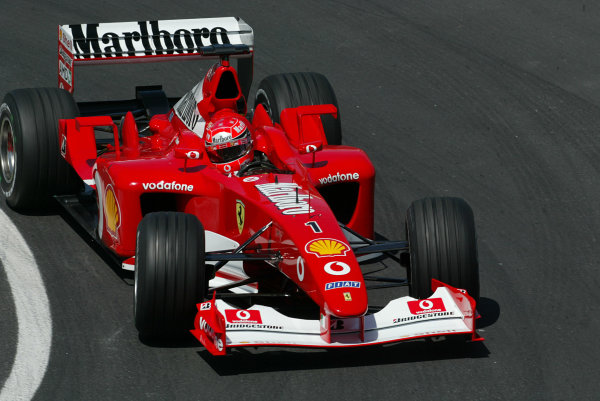 2002 Canadian Grand Prix - Friday PracticeMontreal, Canada. 7th June 2002.Michael Schumacher (Ferrari F2002).World Copyright: LAT Photographic.ref: Digital Image Only