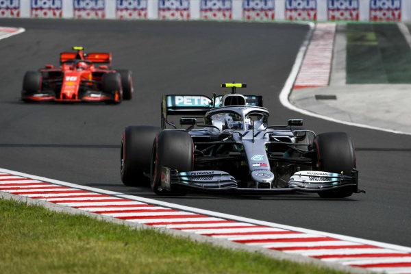 Valtteri Bottas, Mercedes AMG W10 and Charles Leclerc, Ferrari SF90