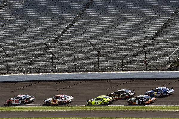 #20: Christopher Bell, Joe Gibbs Racing, Toyota Supra Rheem-Parker Hannifin and #22: Austin Cindric, Team Penske, Ford Mustang Menards/Richmond
