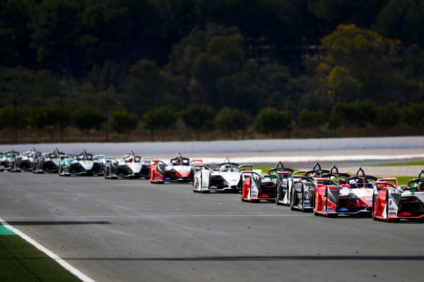 Pascal Wehrlein (DEU), Mahindra Racing, M6Electro, Oliver Rowland (GBR), Nissan e.Dams, Nissan IMO2 and Lucas Di Grassi (BRA), Audi Sport ABT Schaeffler, Audi e-tron FE06