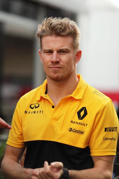 Nico Hulkenberg (GER) Renault Sport F1 Team at Formula One World Championship, Rd17, United States Grand Prix, Race, Circuit of the Americas, Austin, Texas, USA, Sunday 22 October 2017.