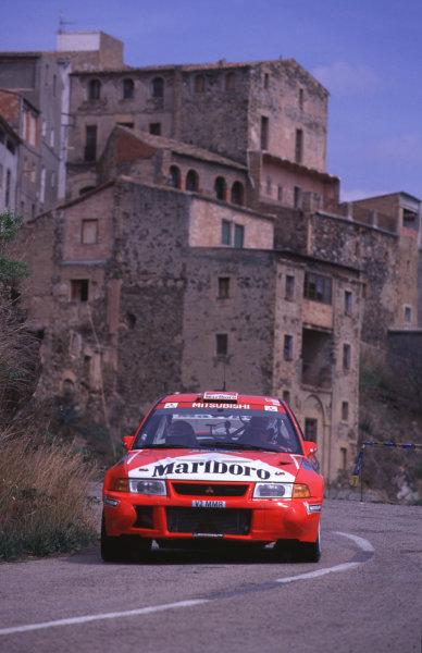 FIA World Rally ChampsCatalunya Rally, Spain. 30/3-2/4/2000Tommi Makinen, Mitisubishi Lancer Evo6, 4th place.photo: World - McKleintel: (+44) 0208 251 3000e-mail: digital@latphoto.co uk35mm Original Image.