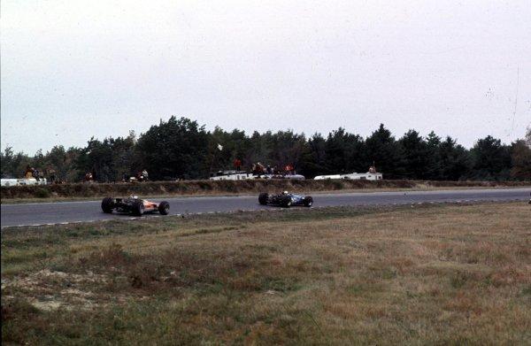 1968 United States Grand Prix.Watkins Glen, New York, USA.4-6 October 1968.Jackie Stewart (Matra MS10 Ford) 1st position.Ref-68 USA 53.World Copyright - LAT Photographic