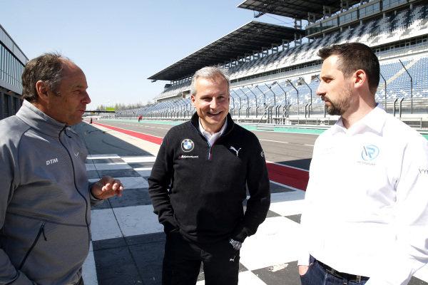 Gerhard Berger, ITR Chairman, Jens Marquardt, BMW Motorsport Director, Dr. Florian Kamelger, Founder and owner AF Racing AG and Team principal R-Motorsport.