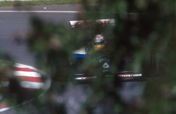 1992 Canadian Grand Prix.Montreal, Quebec, Canada.12-14 June 1992.Riccardo Patrese (Williams FW14B Renault). He exited the race with gearbox failure.Ref-92 CAN 11.World Copyright - LAT Photographic