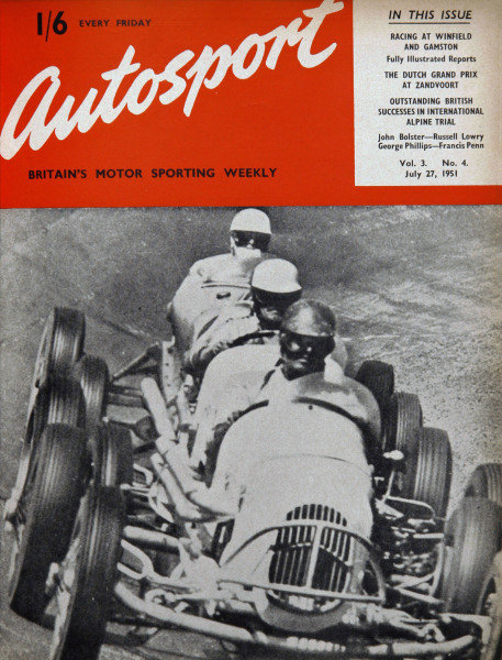 Cover of Autosport magazine, 27th July 1951