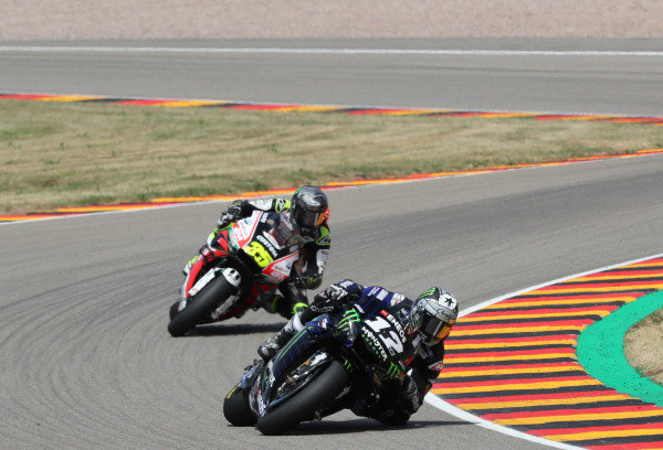 Maverick Vinales, Yamaha Factory Racing, Cal Crutchlow, Team LCR Honda.