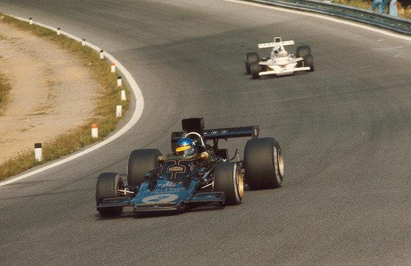 1973 Austrian Grand Prix.Osterreichring, Zeltweg, Austria.17-19 August 1973.Ronnie Peterson (Lotus 72E Ford) 1st position.Ref-73 AUT 01.World Copyright - LAT Photographic