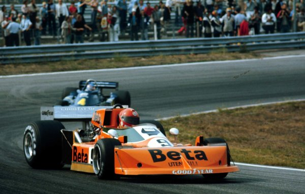 1976 Dutch Grand Prix.Zandvoort, Holland.27-29 August 1976.Vittorio Brambilla (March 761 Ford) 6th position.World Copyright - LAT Photographic