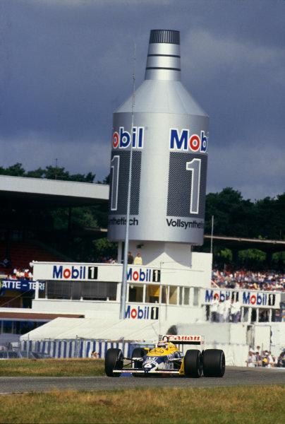 Hockenheim, Germany. 24-26 July 1987. Nelson Piquet (Williams FW11B Honda) 1st position. Action. Ref: 87 GER 19. World Copyright - LAT Photographic