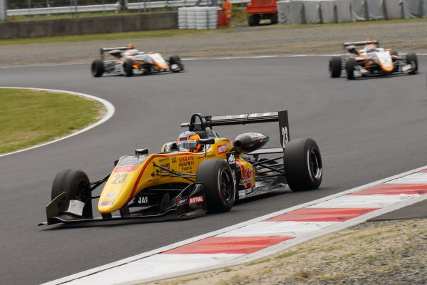 2017 Japanese Formula 3 Championship. Okayama, Japan. 27th - 28th May 2017. Rd 8 & 9. Rd 8 Winner Mitsunori Takaboshi ( #23 B-MAX NDDP F3 ) action World Copyright: Yasushi Ishihara / LAT Images. Ref: 2017JF3_Rd8_003