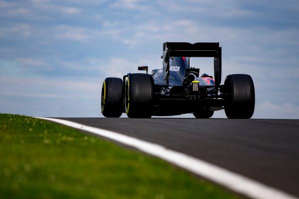 Silverstone, Northamptonshire, UK. Wednesday 13 July 2016. Fernando Alonso, McLaren MP4-31 Honda. World Copyright: Zak Mauger/LAT Photographic ref: Digital Image _L0U8635