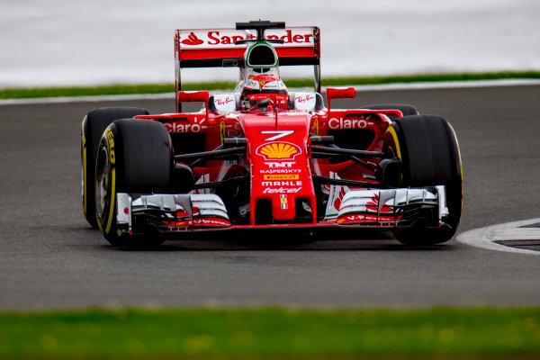 Silverstone, Northamptonshire, UK. Wednesday 13 July 2016. Kimi Raikkonen, Ferrari SF16-H.  World Copyright: Zak Mauger/LAT Photographic ref: Digital Image _79P1983
