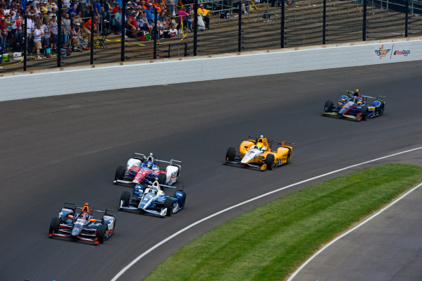 29 May, 2016, Indianapolis, Indiana, USA Alex Tagliani (#35), Max Chilton (#8), Jack Hawksworth (#41), Spencer Pigot (#16) and Matt Brabham (#61). ?2016, F. Peirce Williams LAT Photo USA