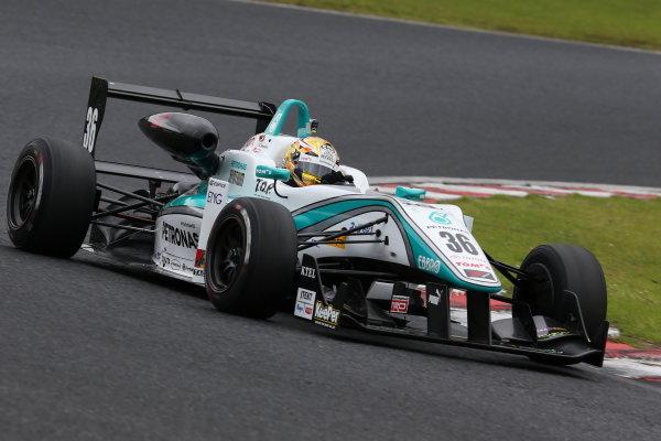 2015 Japanese Formula 3 Championship. Okayama, Japan. 27th - 28th June 2015. Rd 10 & 11. 2nd position Kenta Yamashita ( #36 PETRONAS TOM'S F312 ) action World Copyright: Masahide Kamio / LAT Photographic. Ref:  2015JF3_Rd10&11_07