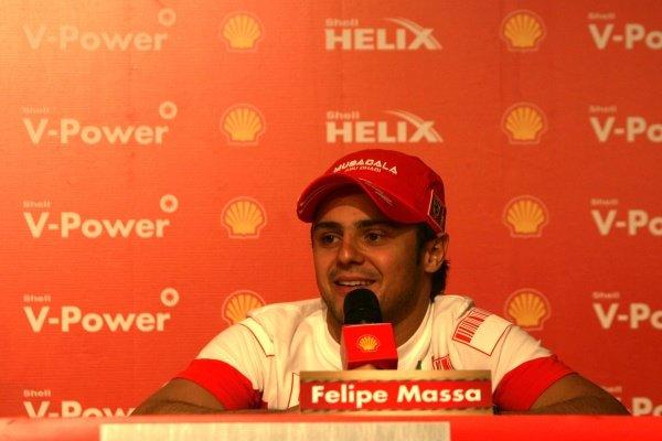 Felipe Massa (BRA) Ferrari at the Shell Press Conference. Formula One World Championship, Rd17, Brazilian Grand Prix, Preparations, Interlagos, Sao Paulo, Brazil, Thursday 18 October 2007.