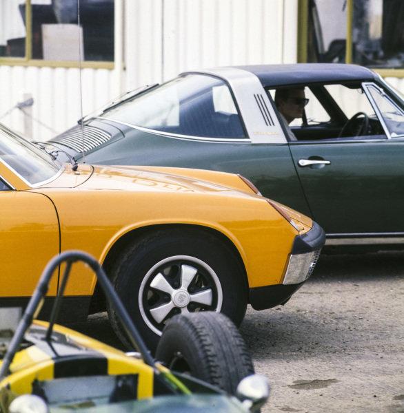 Porsche 914 (front) and 911E (rear)
