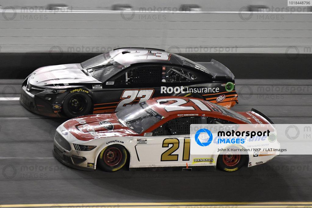#21: Matt DiBenedetto, Wood Brothers Racing, Ford Mustang Motorcraft/Quick Lane #23: Ty Dillon, 23XI Racing, Toyota Camry Root Insurance