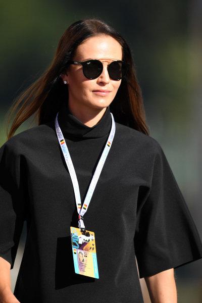 Minttu Virtanen (FIN) wife of Kimi Raikkonen (FIN) Ferrari at Formula One World Championship, Rd13, Belgian Grand Prix, Race, Spa Francorchamps, Belgium, Sunday 28 August 2016.