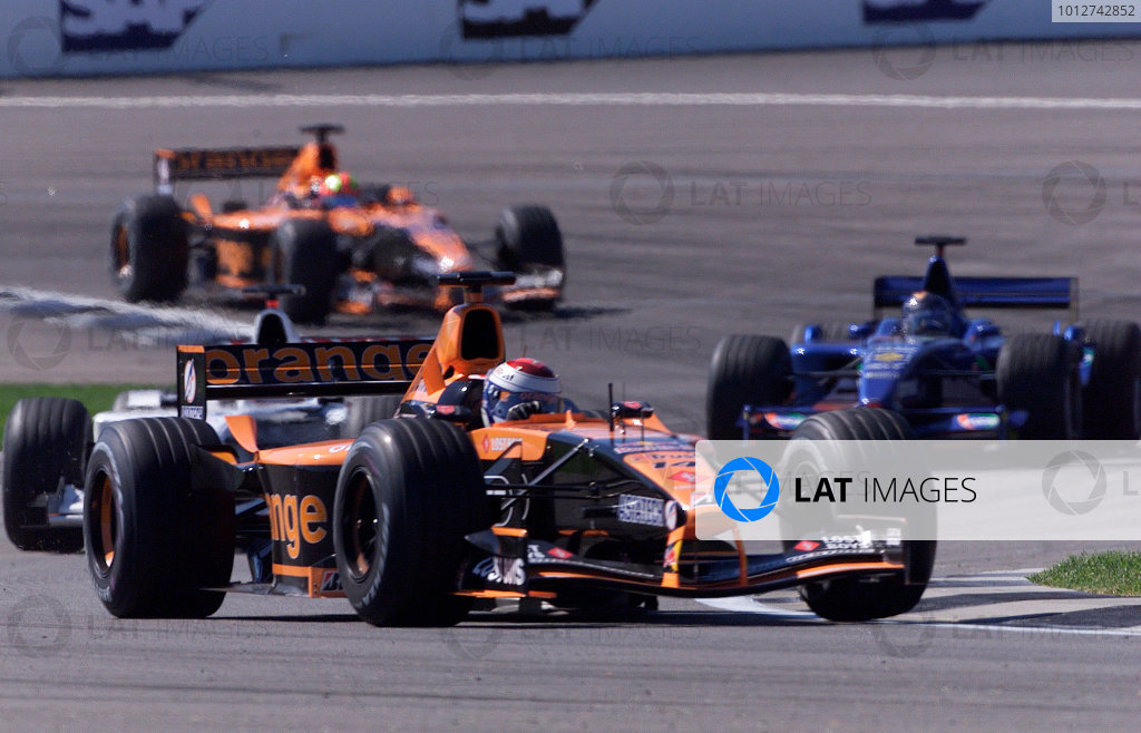 2001 American Grand Prix - RaceIndianapolis, United States. 30th September 2001.Jos Verstappen, Arrows A22 AsiaTech, action.World Copyright: Steve Etherington/LAT Photographicref: 18mb Digital Image