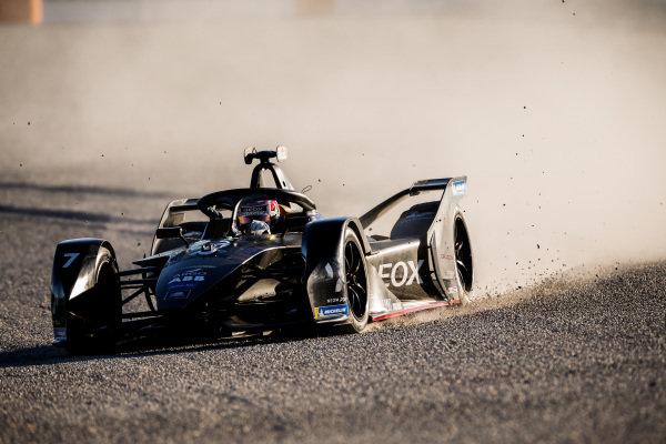 Nico Muller (CHE), GEOX Dragon, Penske EV-4, in the gravel trap