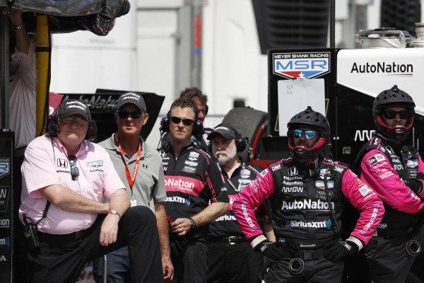 Jack Harvey, Meyer Shank Racing with Arrow SPM Honda, crew