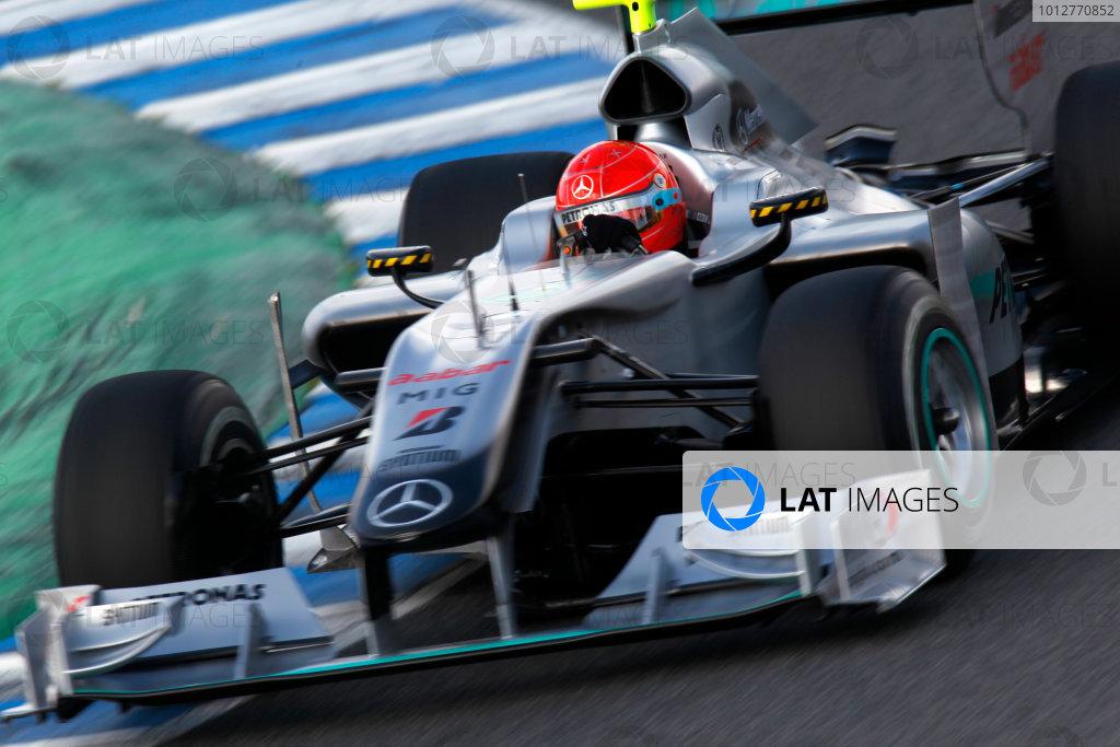 Jerez, Spain.11th February 2010.Michael Schumacher, Mercedes GP W01. Action.World Copyright: Andrew Ferraro /LAT Photographicref: Digital Image_Q0C5814 jpg