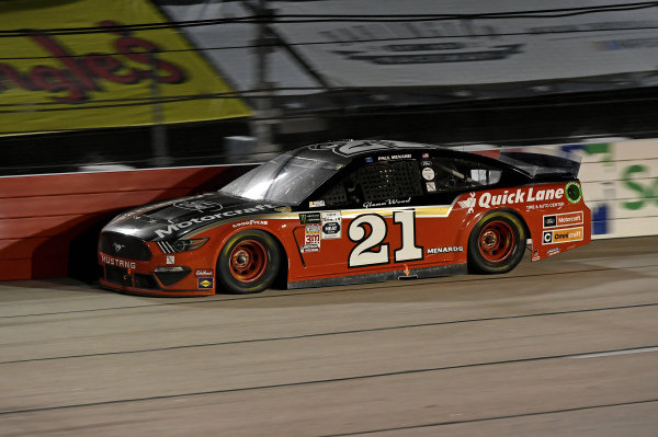 #21: Paul Menard, Wood Brothers Racing, Ford Mustang Motorcraft / Quick Lane Tire & Auto Center