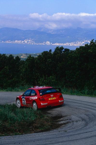 2002 World Rally ChampionshipTour De Corse, Corsica. 8th - 10th March 2002.Philippe Bugalski/Jean-Paul Chiaroni, Citroen Zsara, 4th position overall.World Copyright: McKlein/LAT Photographicref: 35mm Image 02 WRC 12