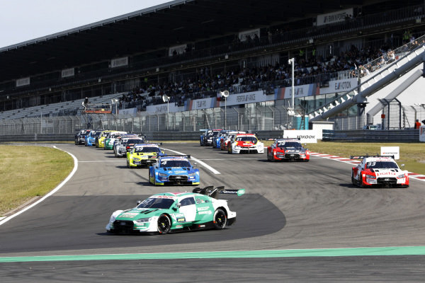 Nico Müller, Audi Sport Team Abt Sportsline, Audi RS 5 DTM lead the formation lap.