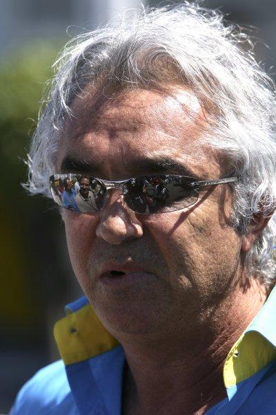 2006 British Grand Prix - Saturday Qualifying Silverstone, England. 8th - 11th June. Flavio Briatore, Renault F1 team principal, portrait. World Copyright: Charles Coates/LAT Photographic ref: Digital Image ZK5Y2310