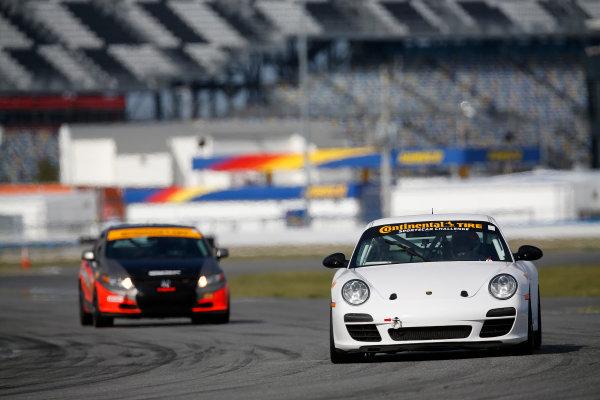 3-5 January, 2014, Daytona Beach, Florida, USA #7, Porsche, 997, Albert Carter, Brett Sandberg © 2014, Michael L. Levitt LAT Photo USA