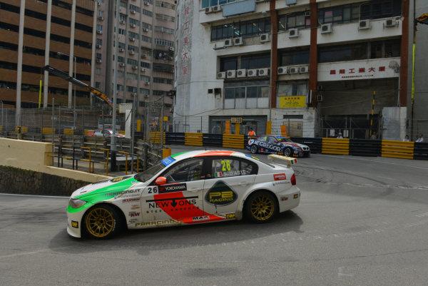 2013 World Touring Car Championship. Round 12 - Circuit de Guia, Macau, China. Sunday 17 November 2013. Race1, Stefano D'aste (ITA), BMW 320 TC, PB Racing. World Copyright: XPB Images / LAT Photographic. ref: Digital Image PHOTO4_560399