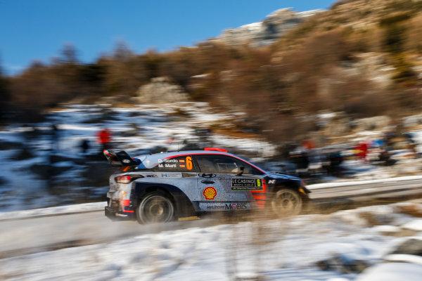 2017 FIA World Rally Championship, Round 01, Rally Monte Carlo, January 18-22, 2017, Dani Sordo, Hyundai, Action, Worldwide Copyright: McKlein/LAT