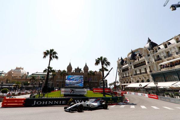 Monte Carlo, Monaco. Saturday 27 May 2017. Felipe Massa, Williams FW40 Mercedes. World Copyright: Glenn Dunbar/LAT Images ref: Digital Image _31I8548